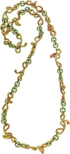 Diamond, Tsavorite Garnet, Titanium Necklace by Wallace Chan, via Heritage Auctions