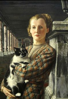 Wilma with the Cat - Carell Willink, 1940Dutch 1900-1983