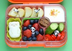 This fun panda themed bento lunchbox idea for kids is simple to make with a few bento tools - packed in the Yumbox bento box with CuteZCute panda egg.