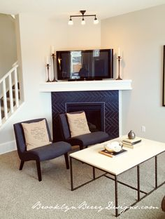 Furniture Placement Around Corner Fireplace. Find ideas and inspiration for Furniture Placement Around Corner Fireplace to add to your own home. Simple Furniture, Furniture Layout, Furniture Arrangement, Arrange Furniture, Cheap Furniture, Kitchen Furniture, Bedroom Furniture, Furniture Ideas, Fireplace Furniture