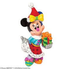 Enesco Disney by Britto Gift Gift Santa Minnie 3.375-Inch Figurine, Mini * You can get more details by clicking on the image.