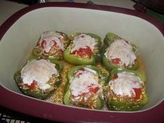 Italian Stuffed Bell Peppers (from More Weekday Dinners - Done!)