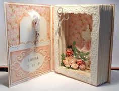 Card Book, Exploding Boxes, Paper Folding, Book Journal, Crafty Craft, Handmade Decorations, Paper Gifts, Shadow Box, Mini Albums