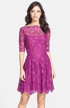 Cynthia Steffe Lace Fit & Flare Dress | Nordstrom
