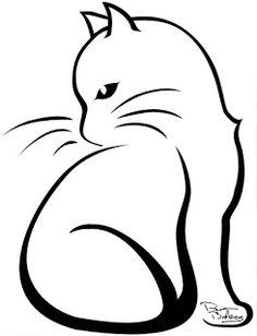 draw a cat Katze – draw a cat Katze – - Katzen Silhouette Tattoos, Cat Silhouette, Animal Line Drawings, Cat Outline, Cat Tattoo Designs, Cat Sketch, Jewelry Drawing, Cat Cards, Cat Drawing