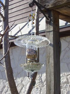Super cute vintage chandelier repurposed to use as a bird ...