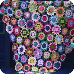 @ Coco Rose Diaries: Bed throw from Japanese flower pattern