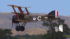 Three World War One fighter aircraft, a Sopwith Triplane, Nieuport N.11 and a Pfalz DIII, are seen dogfighting in this video. The fight was filmed at the Win...
