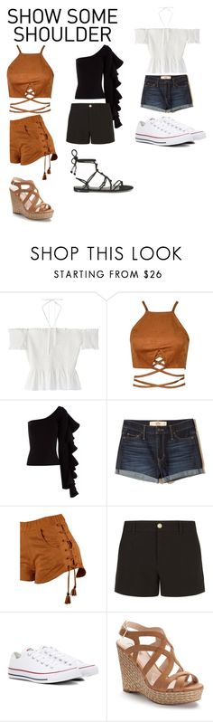 """""""Show Some Shoulder"""" by minimarshmallow2 on Polyvore featuring Beaufille, Hollister Co., Gucci, Converse, Jennifer Lopez and Rebecca Minkoff"""