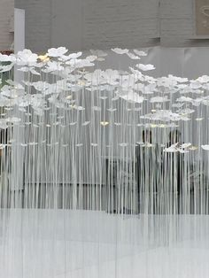 Procedes Chenel International in 2020 Hanging Flowers, Paper Flowers, Paper Installation, Display Design, Conceptual Art, Diy Wall Decor, Retail Design, Event Decor, Event Design