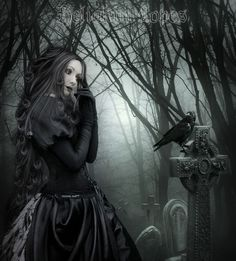 Angel After Dark. Top Gothic Fashion Tips To Keep You In Style. Consistently using good gothic fashion sense can help Dark Gothic Art, Gothic Fantasy Art, Dark Art, Modern Gothic, Victorian Gothic, Dark Beauty, Beauty Art, Gothic Beauty, Gothic Vampire