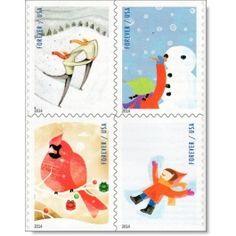 Weihnachten 2014 - 4 Briefmarken postfrisch, USA