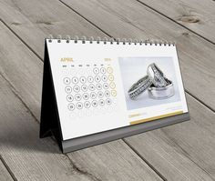 Desk Calendar 2016 Template KB20-W13. by CalendarsTemplates