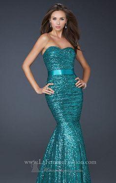 Truly a mermaid dress.