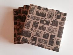Vintage CAMERA Black and White Table Coaster *Set of 4*