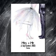 Hochzeit Wedding Gästebuch auf Leinwand 40x60cm