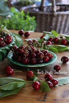 Rote Herzkirschen - #superfood aus dem Garten #kirschen #herzkirschen Superfood, Vegetable Garden, Cherry, Teller, Fruit, Vegetables, Cherry Pie Recipes, Cherries, Table