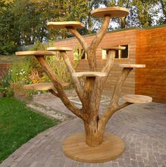 Diy cat Ideas - Diy Cat Toy and Diy Cat Tree and Diy Cat house - It& time for you to diy cat toys in order to have some cat fun. We hope that this diy cat wil - Outdoor Cat Tree, Garden Art, Garden Design, Diy Cat Tree, Cat Towers, Cat Playground, Cat Condo, Cat Room, Buy A Cat