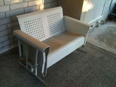Vintage 2 Seat Porch Glider.                              We have this one, also painted this color