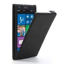 Capa Lumia 1020 - Flip Carbon Preto  R$35,44