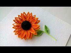 Quilling... Video Anleitung für eine Sonnenblume