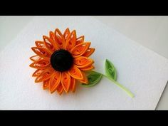 Quilling Flowers Tutorial, 3D quilling : How to make Quilling Sunflower Flower-Paper Art Quilling. - YouTube