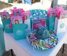 Great display table for bookings at vendor events!