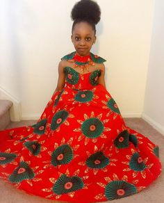 Trending Ankara Style : Top 12 Hottest Ankara Kid Style Suitable for Event in 2017 Ankara Styles For Kids, African Dresses For Kids, Ankara Gown Styles, African Children, Latest African Fashion Dresses, Ankara Dress, African Print Fashion, African Women, Girls Dresses
