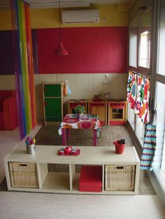 96 fun kids playroom ideas to inspire you page 43 Classroom Layout, Classroom Projects, Classroom Setting, Classroom Design, Classroom Decor, Preschool Rooms, Daycare Rooms, Home Daycare, Preschool Classroom