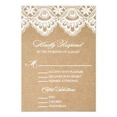 RUSTIC LACE | WEDDING RSVP ENCLOSURE CARD 2 #wedding