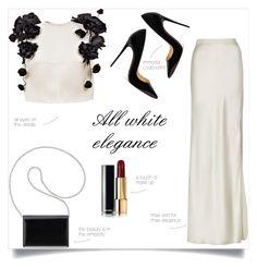 All white elegance by taniadeseptembre on Polyvore featuring polyvore fashion style Esme Vie Nili Lotan Christian Louboutin Nine West clothing