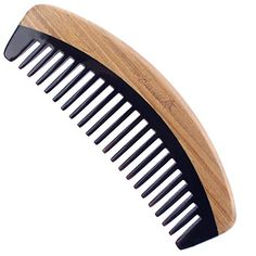 Breezelike Wide Tooth Hair Comb  No Static Handmade Wooden Detangling Comb  Natural Sandalwood Horn Comb with Premium Gift Box ** Learn more by visiting the image link.Note:It is affiliate link to Amazon.