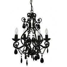 Wrought Iron Mini Chandelier Teardrop 4 Swag Ceiling Sophisticated Chic Decor