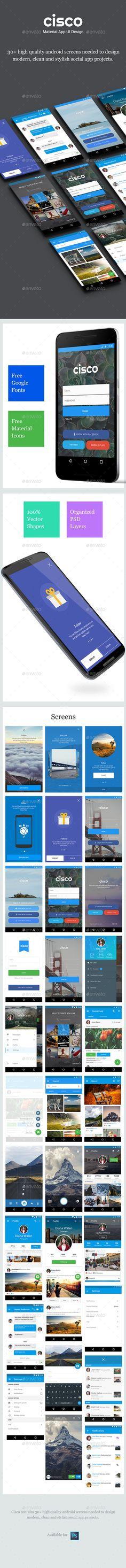 Material App UI Design - Cisco - User Interfaces Web Elements