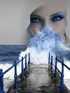Love Images, Beautiful Images, Splash Images, Big Blue Eyes, Splash Photography, Photo P, Romantic Photos, Artistic Photography, Double Exposure