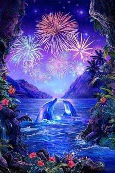 Fireworks in Paradise - Christian Riese Lassen - Artist