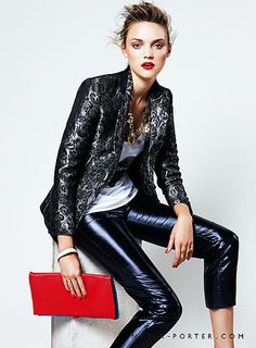 Adore this metallic blazer.