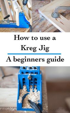 The most complete guide for using Kreg Jig - with a video tutorial. How to use a Kreg Jig. Great woodworking tips and tricks for beginner. diy for beginners plans tips tools Woodworking Jig Plans, Easy Woodworking Projects, Popular Woodworking, Diy Wood Projects, Woodworking Tools, Woodworking Furniture, Kreg Tools, Woodworking Beginner, Woodworking Jigsaw