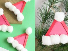 Santa Hat Popsicle Stick Ornament for Christmas Science Websites For Kids, Homemade Pedialyte, Activated Charcoal Face Mask, Sensory Bins, Sensory Play, Water Beads, Autism Resources, Preschool Books, Witches Brew