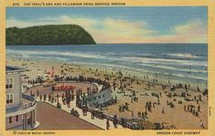 Penny Postcard, Seaside, Oregon, and Tillamook Head, ca.1940