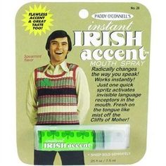 Gag Gifts - Instant Irish Accent Breath Spray by Blue Q. $3.99. Save 20%!