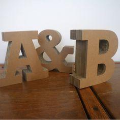 Chunky Cardboard Letters by Letterfest