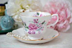Royal Albert Pink Floral Teacup And Saucer Set, English Bone China Tea Cup, Replacement China, Garden Tea Party, Wedding Gift, ca. 1960-1970