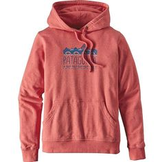 Patagonia Women's Femme Fitz Roy Lightweight Hoody ($69) ❤ liked on Polyvore featuring tops, hoodies, spiced coral, red hoodie, sweatshirt hoodies, pullover hoodie, hooded sweatshirt and red top