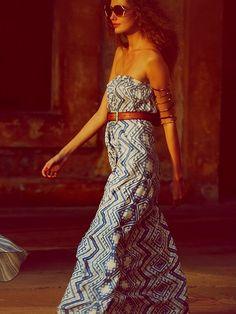 Crosswords Maxi Tube Dress   #hippie  #bohemian #gypsy #boho