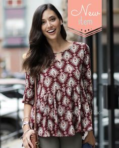 Cute new top for the fall from Grace & Lace!