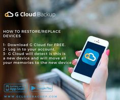 Follow these steps to restore/ replace your device with G Cloud backup app