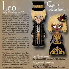 """Goth:  #Signs & #Sorts ~ """"#Goth Zodiac: Leo,"""" by Trellia, at deviantART."""