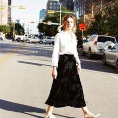 Ralph Lauren dreamy velvet skirt