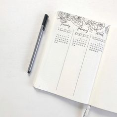 Bullet Journal Future Log by